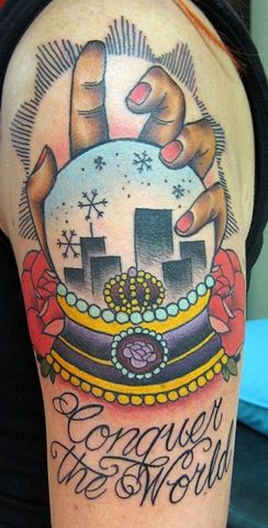 snow globe tattoo heath nock tattoo studio sydney australia tattoo ideas pinterest globe. Black Bedroom Furniture Sets. Home Design Ideas