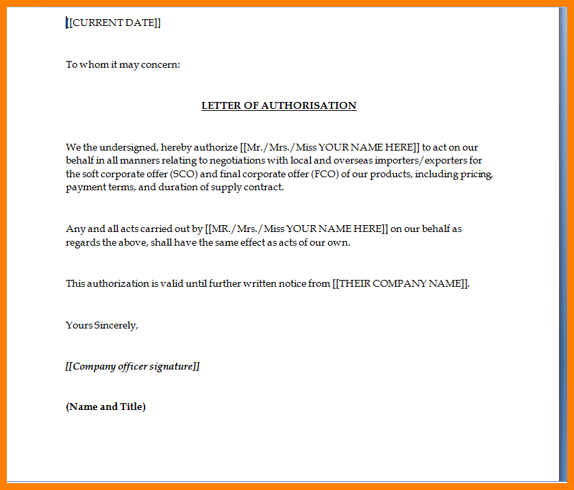 Authorization Letter For Bank Statement Dialysis Nurse Sample