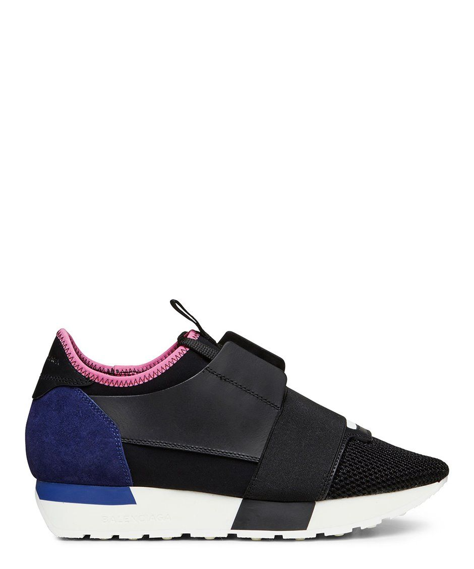 Black and Pink Race Sneakers Balenciaga RTbHGiqk