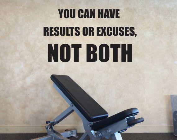 Fitness Studio Wall Decor, Gym Wall Decal, Gym Motivation