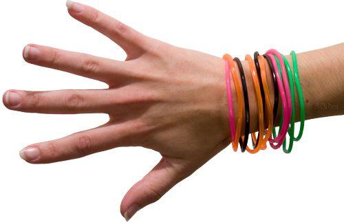 Jelly bracelets.