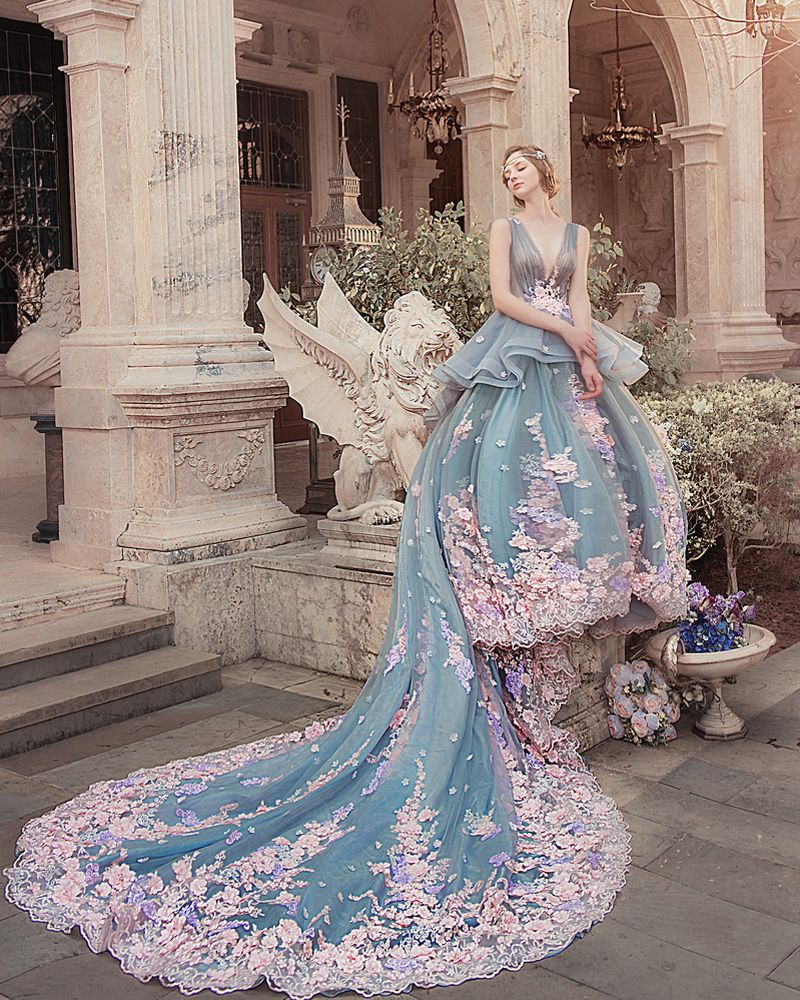 20 gorgeous colored wedding gowns fit for a classic princess colored wedding gowns gowns stunning dresses