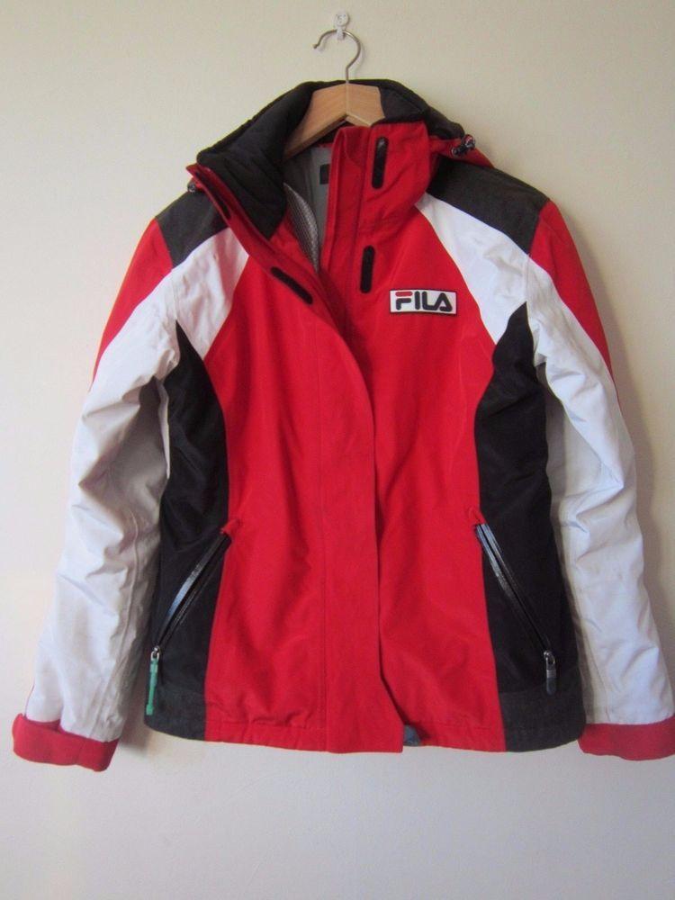 FILA SKI JACKET - red coat waterproof thermore dialight   Vêtements,  accessoires, Femmes  ab55555c4c9