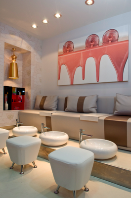 Interiorismo blog dise o local o p i nail bar beauty work deco pinterest nail bar - Bar salon design ...