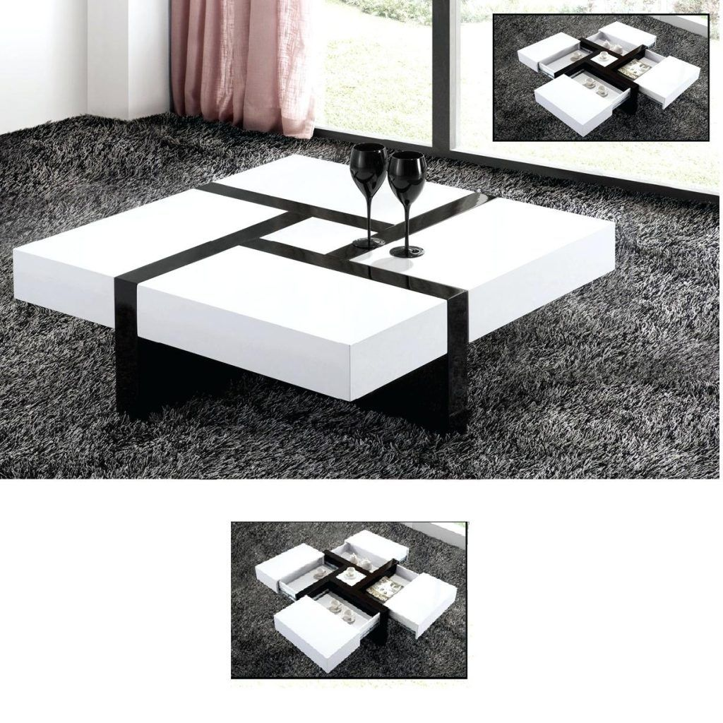 Genesis White High Gloss Round Swiveling Coffee Table | http ...