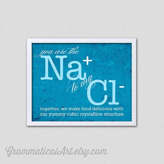 valentine's day gift chemistry love nerdy printgrammaticalart, Ideas