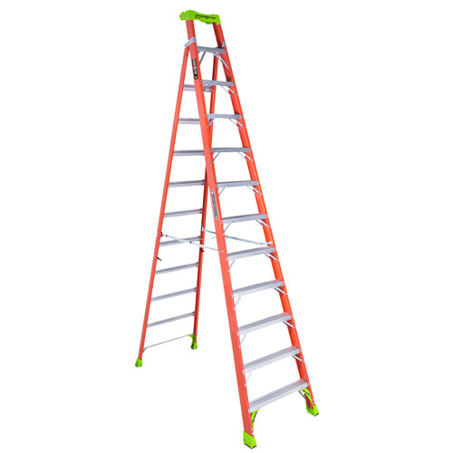 Louisville Ladder 12 Cross Step Fiberglass Lean Ladder Type 1a 300 Lb In 2020 Ladder Step Ladders Ladder Set