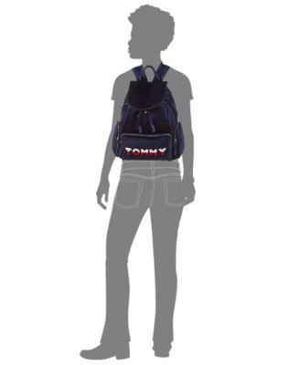 8357f61c Tommy Velvet Flap Backpack | Products | Tommy hilfiger, Black ...