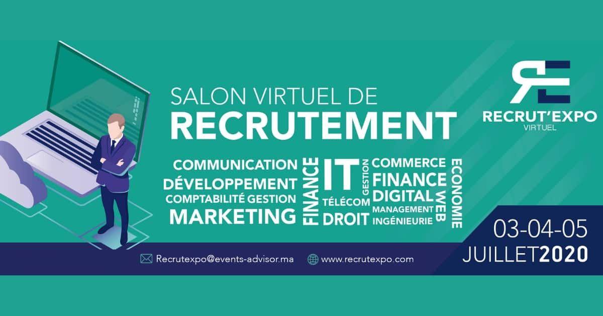 Recrut Expo Forum Virtuel De Recrutement Du 3 Au 5 Juillet 2020 En 2020 Recrutement Cabinet De Recrutement Offre De Stage