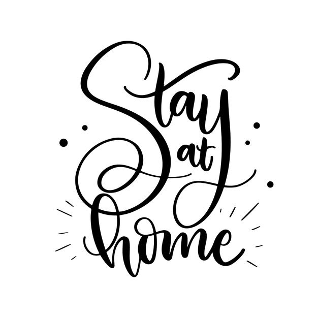 Download I Stay At Home Lettering for free