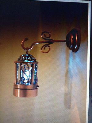 Miniature dollhouse lighting battery operated copper coach lamp  brite lite also hanging swirled glass and metalwork by giginstudio