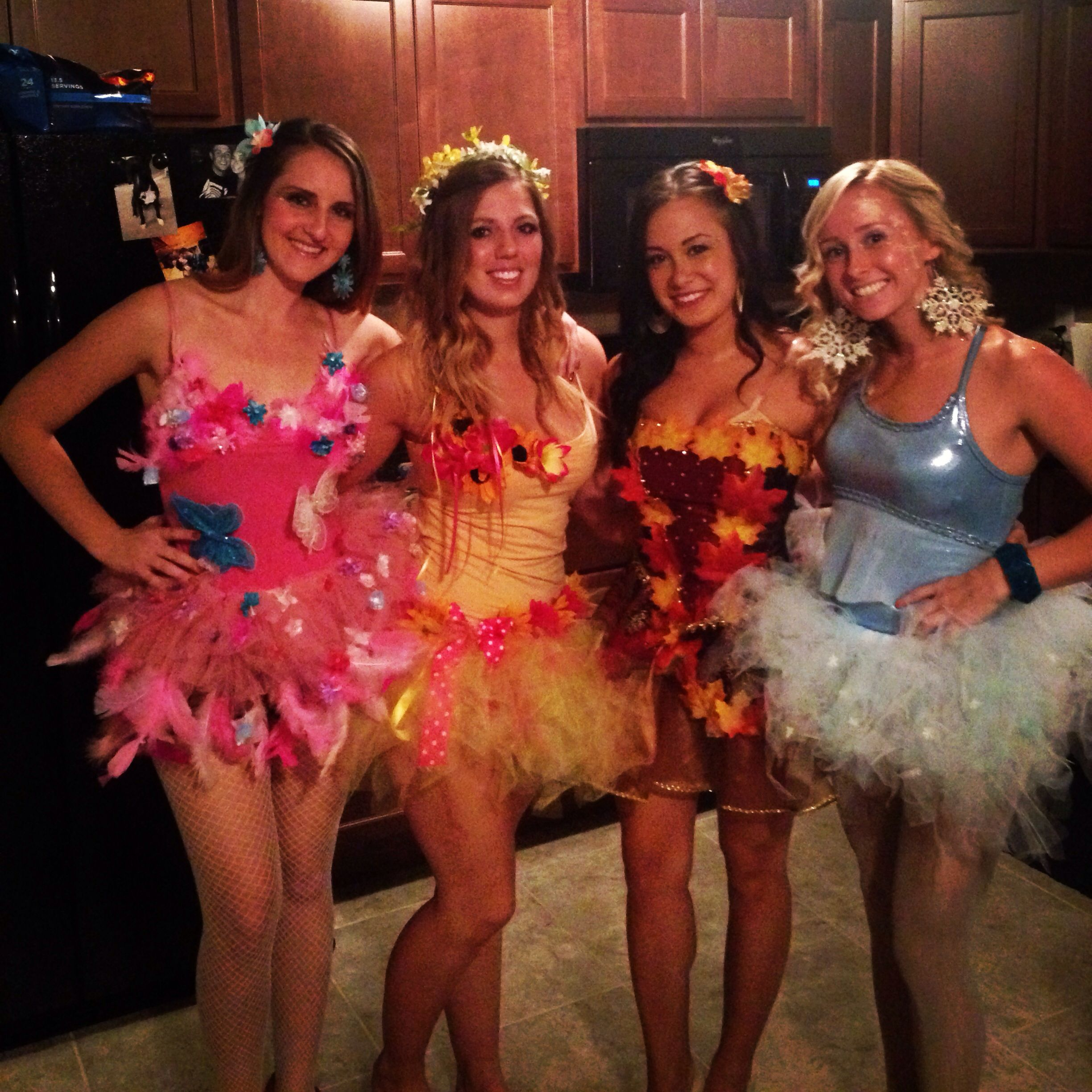 Halloween Costumes For Group Of 4! Four Seasons!! (With