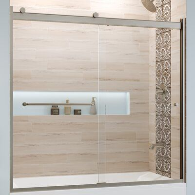"Basco Rotolo 56"" W x 57"" H Bypass Semi-Frameless Tub Door 