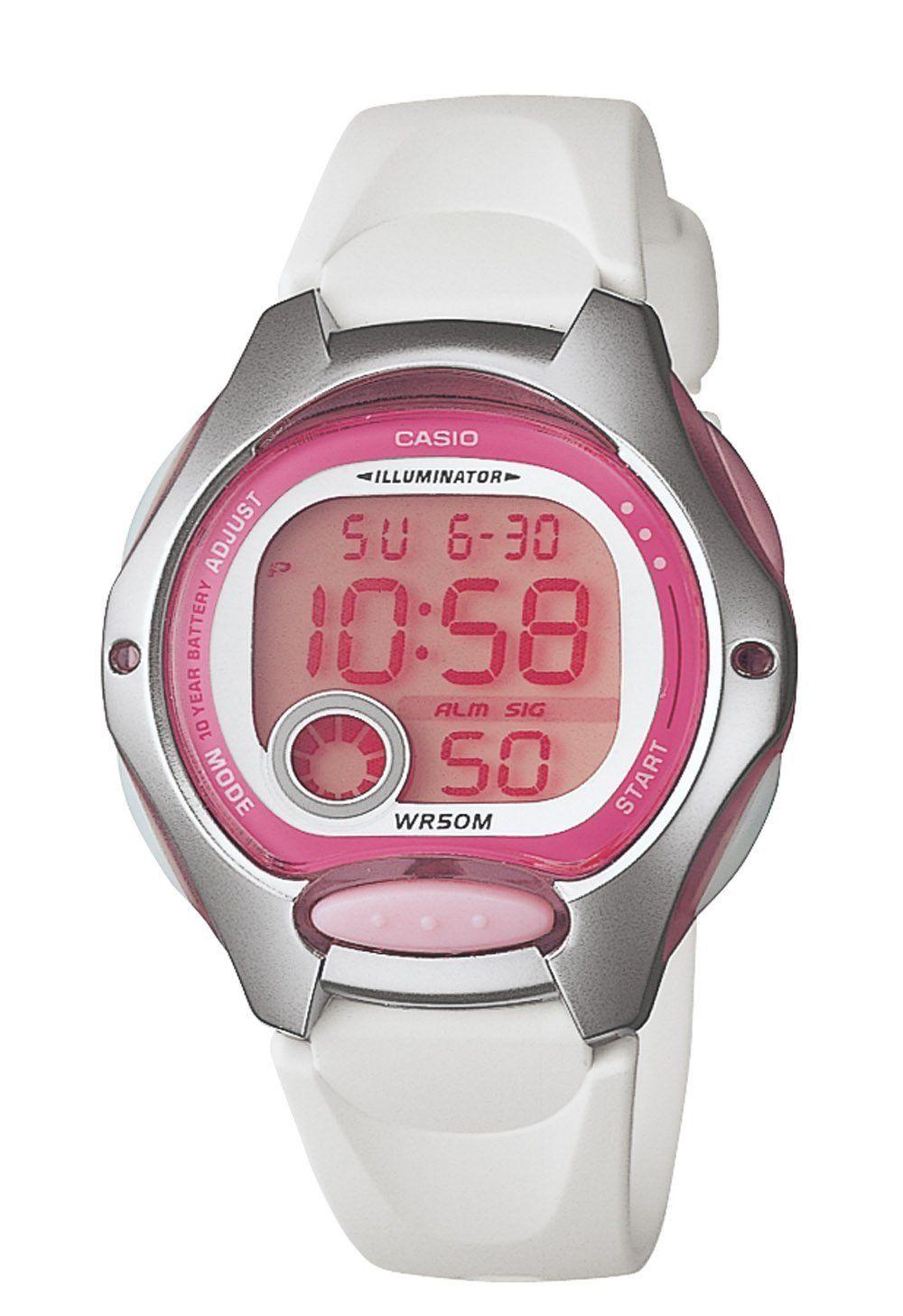 fba938391 Casio Women's LW200-7AV Digital White Resin Strap Watch Price: $17.47
