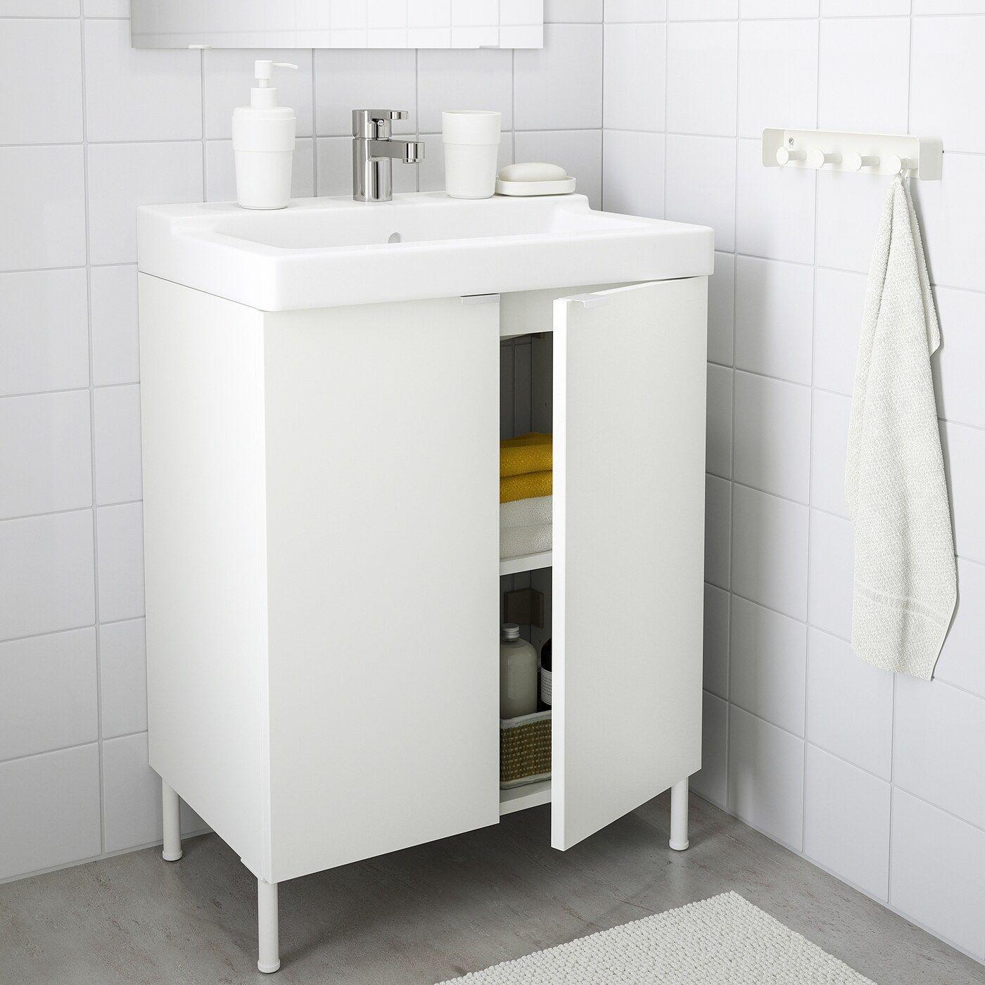 IKEA – LILLÅNGEN / TÄLLEVIKEN Bathroom vanity w 2 doors Whit …