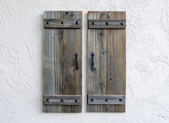 Photo of Rustic Shutters . Set of 2. Door Shutters. Barn Doors. Farmhouse Decor. Shutters Wall Decors.  Farmhouse Shutters. Shutters. Ready to Ship *