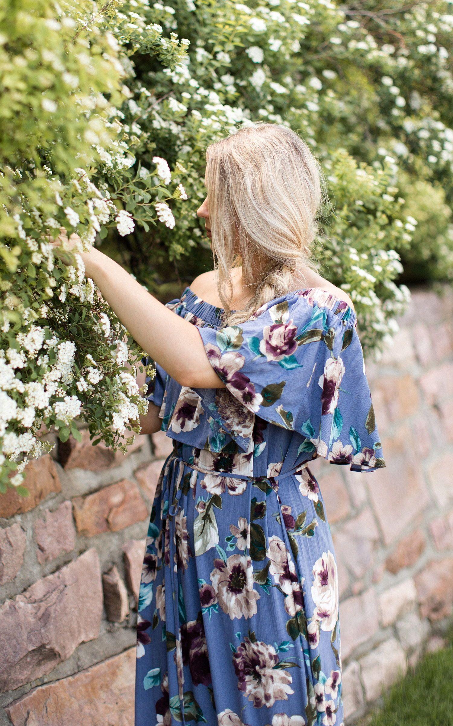 Girls boutique spring summer floral dress