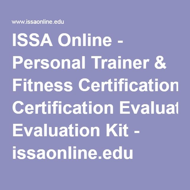 Issa Online Personal Trainer Fitness Certification Evaluation