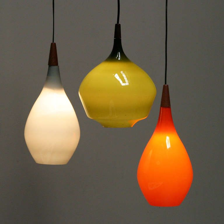 Set Of Three Pendant Lights By Holmegaard Denmark Pinterest - Set of three pendant lights