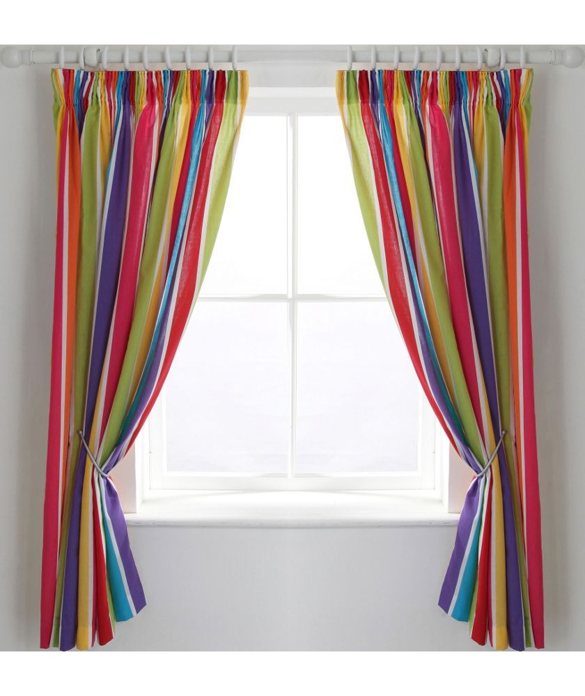 Buy Colourmatch Kids Stripe Blackout Curtains 168 X