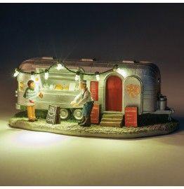 caravan met led verlichting h 65 cm
