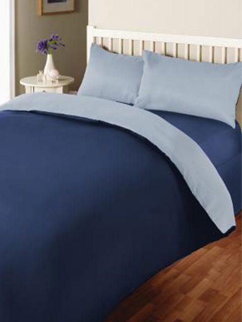 Reversible Blue And Light Blue Single Duvet Cover Bedding Single Duvet Cover Bed Bed Covers