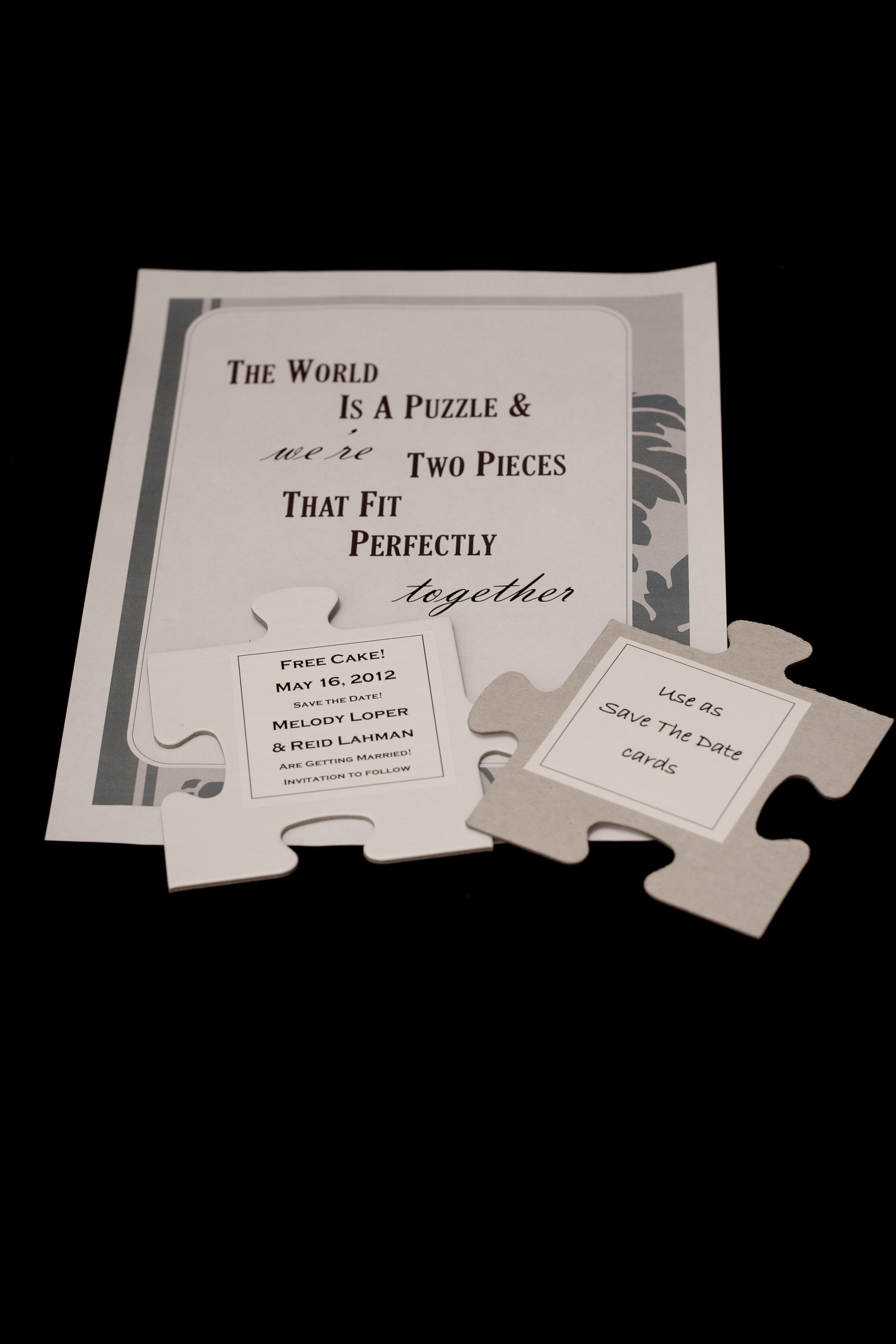 Wedding Guest Book Puzzle: Have each guest sign a puzzle piece with ...