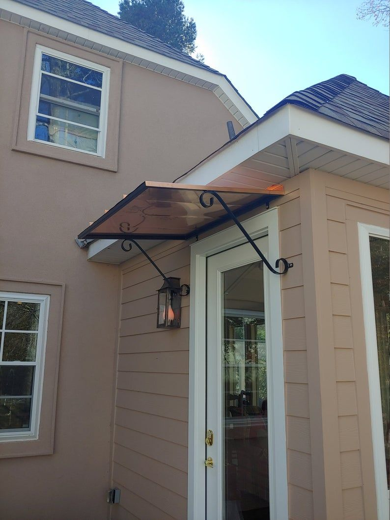4 Copper Awning Etsy In 2020 Metal Awnings For Windows House Awnings Awning Over Door