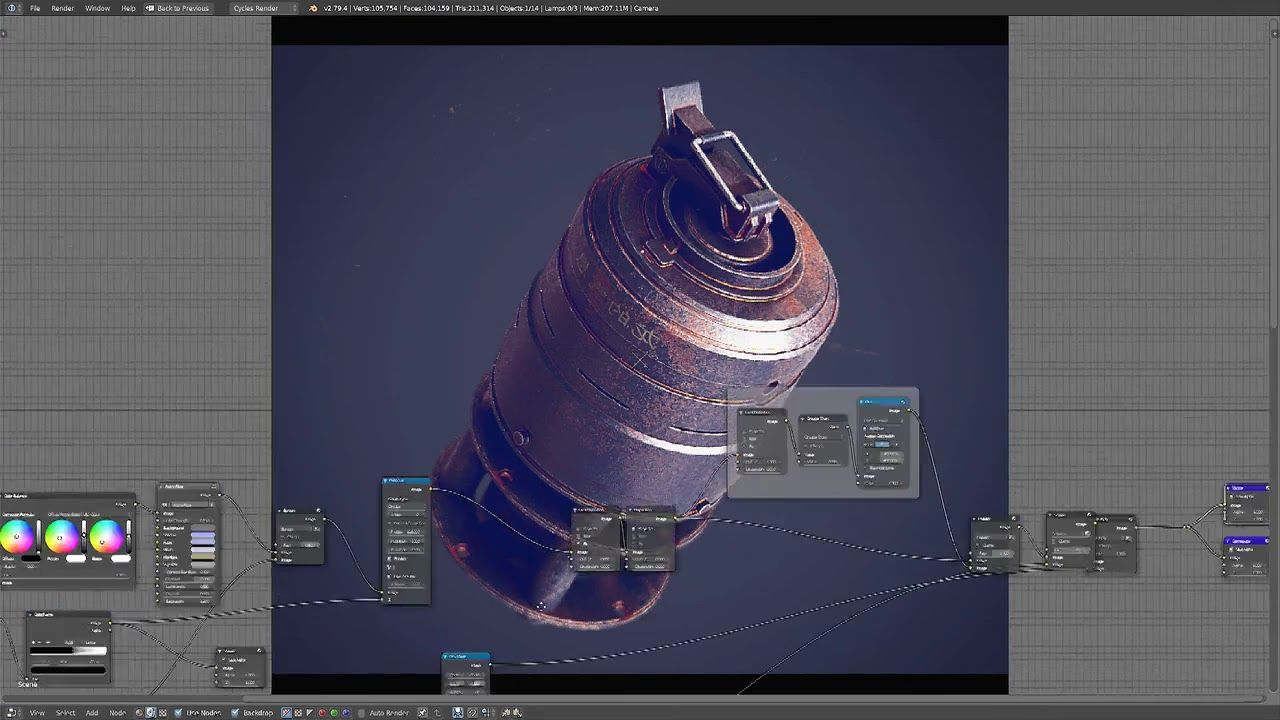 Blender Tutorial #25 DOF Effect Using Cycles Render Nodes