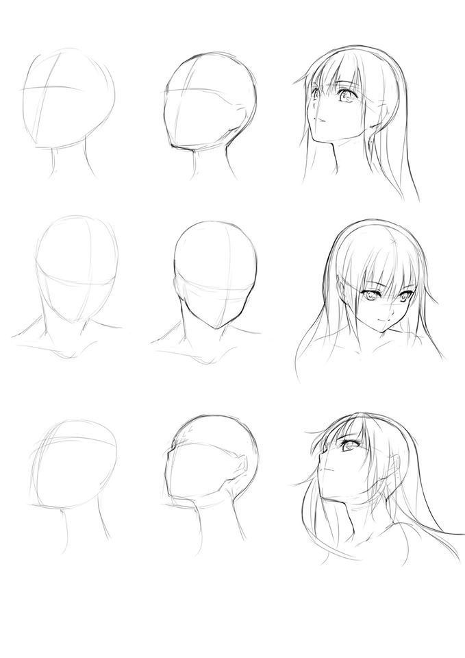 Anime Female Face Anime Drawings Tutorials Character Design Tutorial Manga Drawing