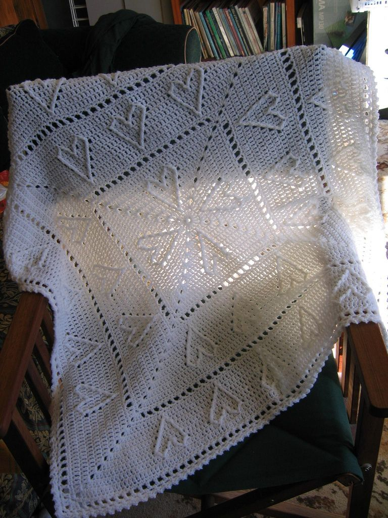 Ravelry: Cable Hearts Baby Afghan pattern by Chris Simon | crochet ...
