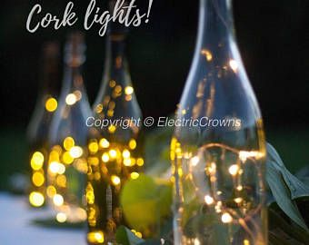Wine bottle Lights Bottle Lights Table Decor Wine