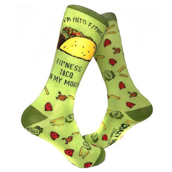 db5d101cef57 Groomsmen Socks, Funny Taco Socks, Fitness Taco Mouth socks, Funky Socks, Mens  Novelty Socks, Cool M