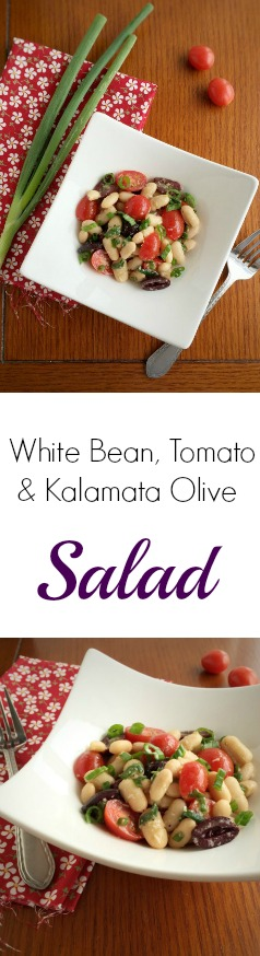 White Bean, Tomato and Kalamata Olive Salad - makes a great side dish for four or light main course for two. thetexaspeach.com