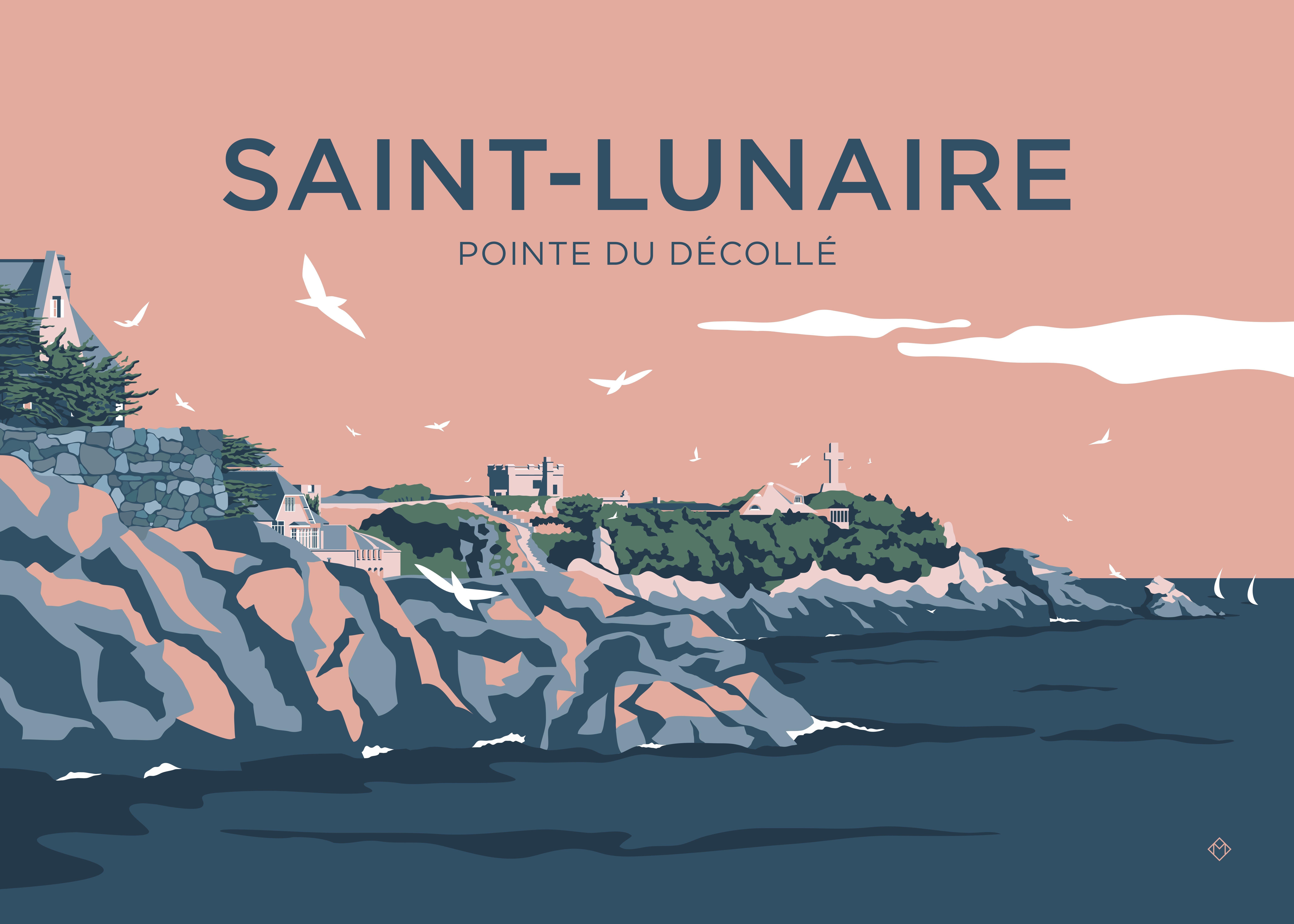 Pointe Du Decolle Soleil Couchant Cote D Emeraude Bretagne
