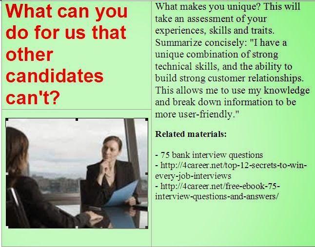 List of job interview materials Useful job interview materials - list of technical skills