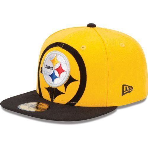 Men s New Era Pittsburgh Steelers Over Flock 59FIFTY  Structured Fitted Hat  by New Era.  36.99. NFL® team logo embroidered on front and back  New Era®  flag ... 0715bfbde
