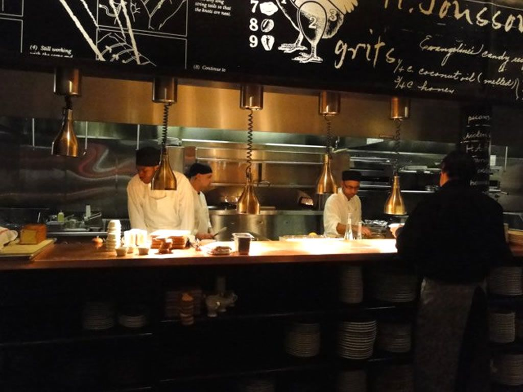 restaurant kitchen design crosley island open interior of red rooster