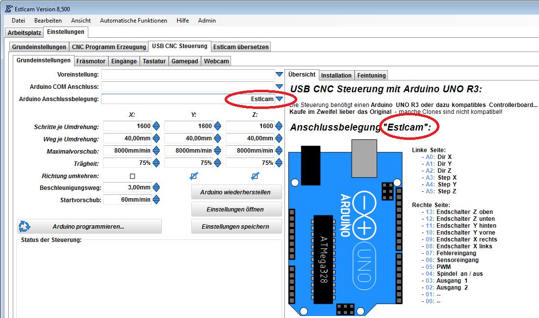 Estlcam De 2d 3d Cam Software Und Cnc Steuerung Cnc Arduino 3d Printer