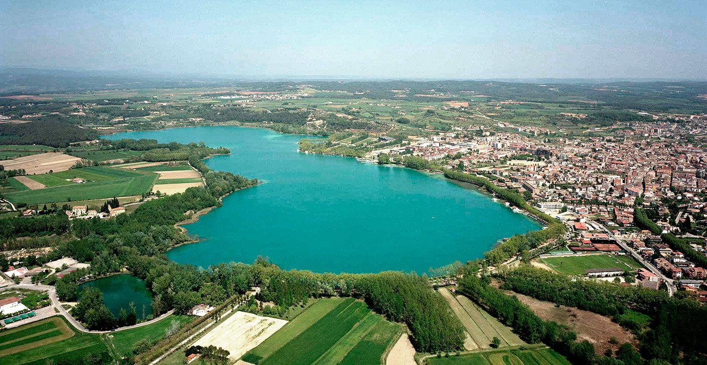 Banyoles Lake Camping Castell Montgri Catalonia Lake Camping