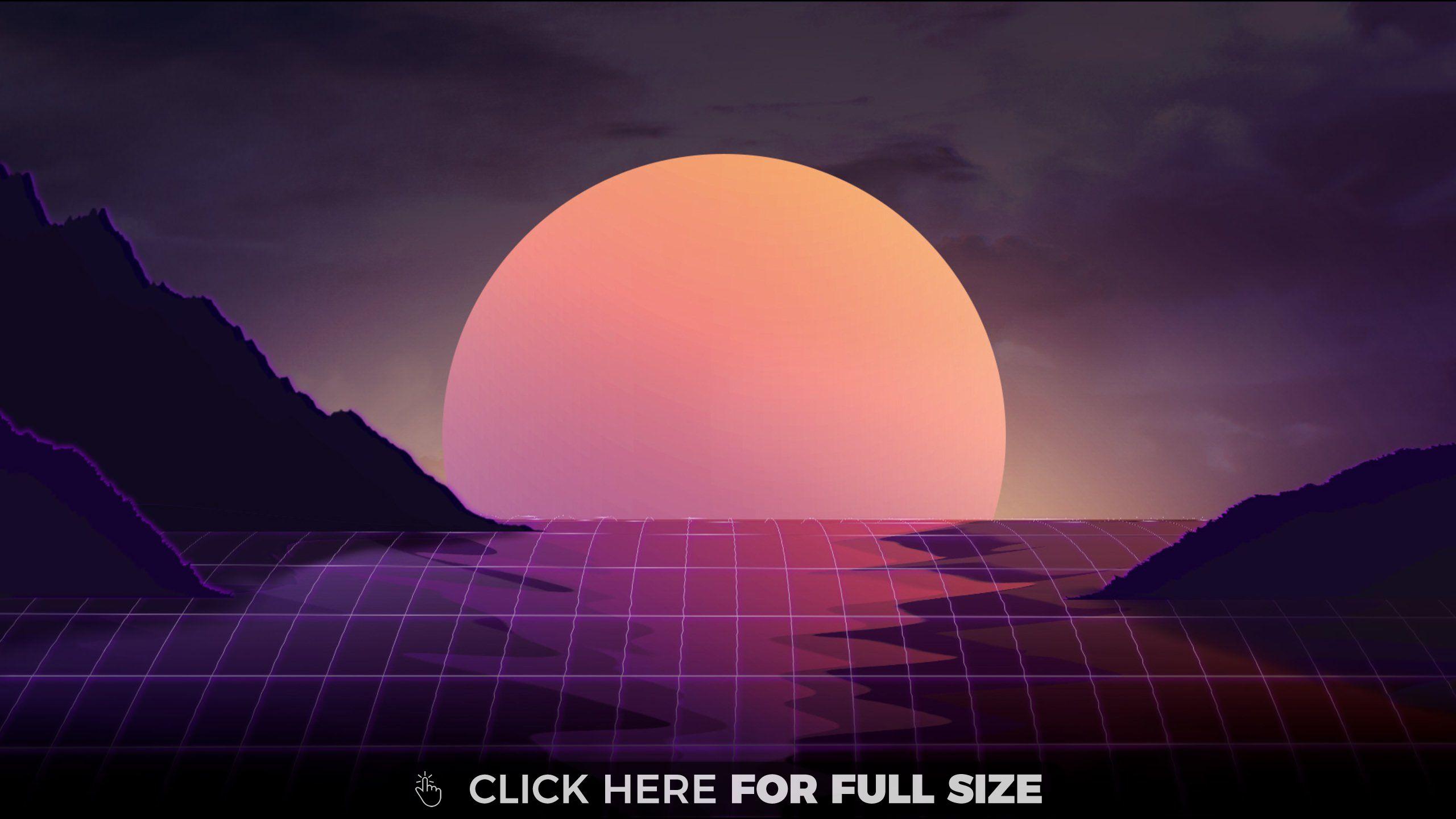 Vaporwave Sunset Hd Wallpaper Vaporwave Wallpaper 2048x1152 Wallpapers Waves Wallpaper