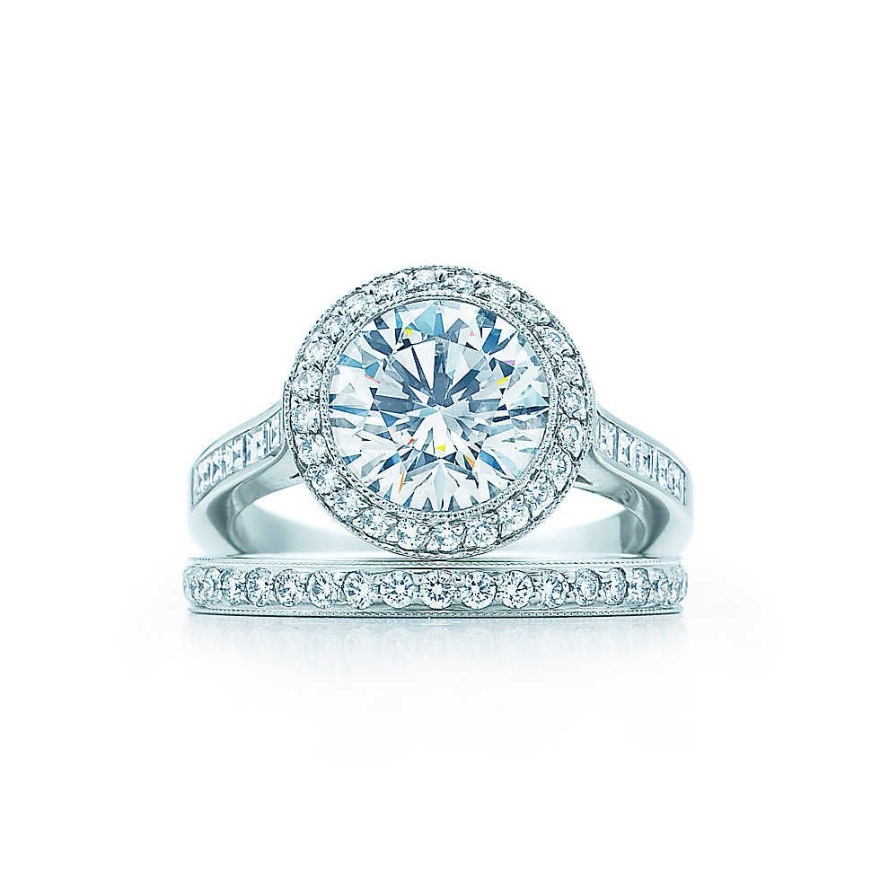 Round Brilliant With Bead Set Border Engagement Rings