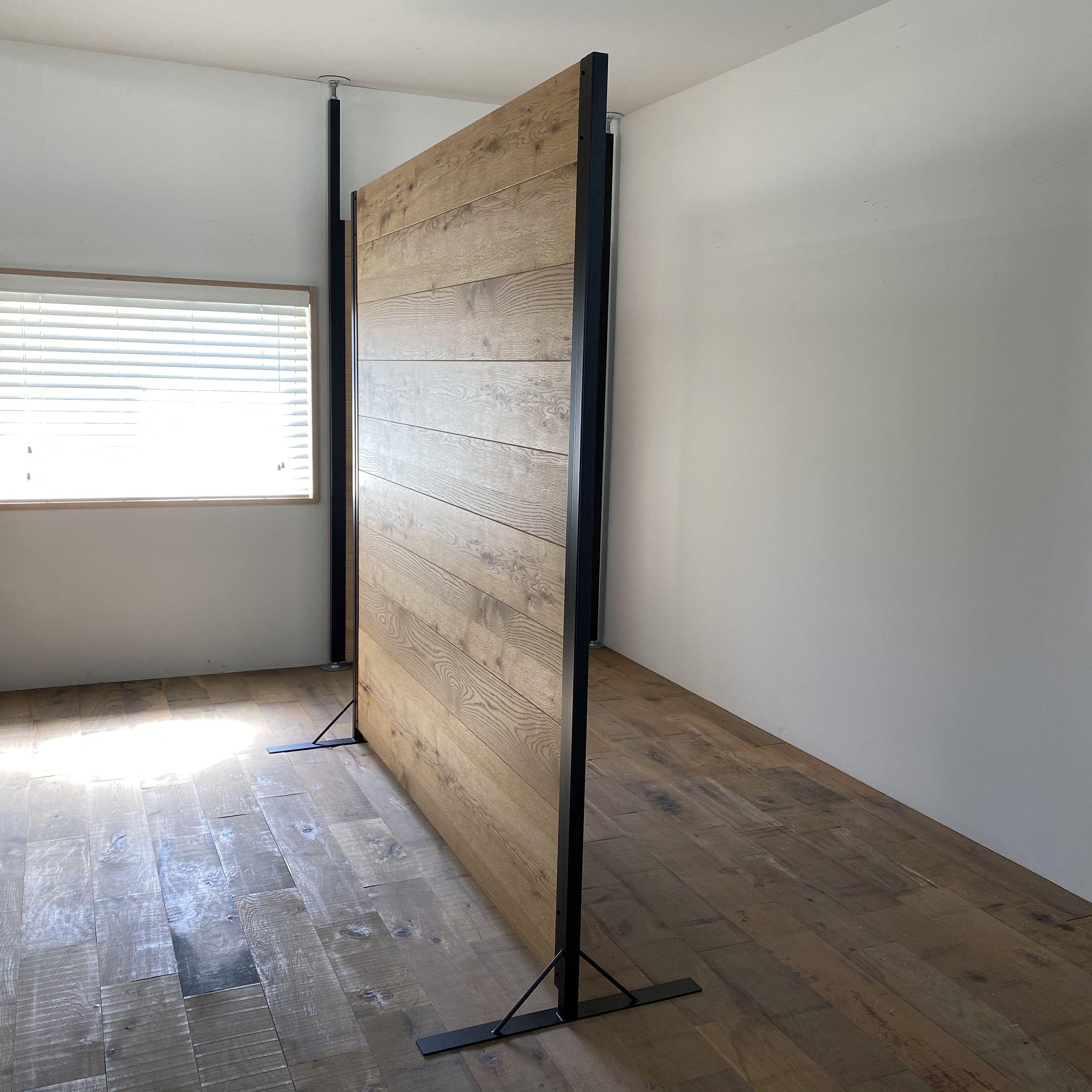 スタンドパーティション ホワイトオーク 高さ180cmキット 横幅サイズ