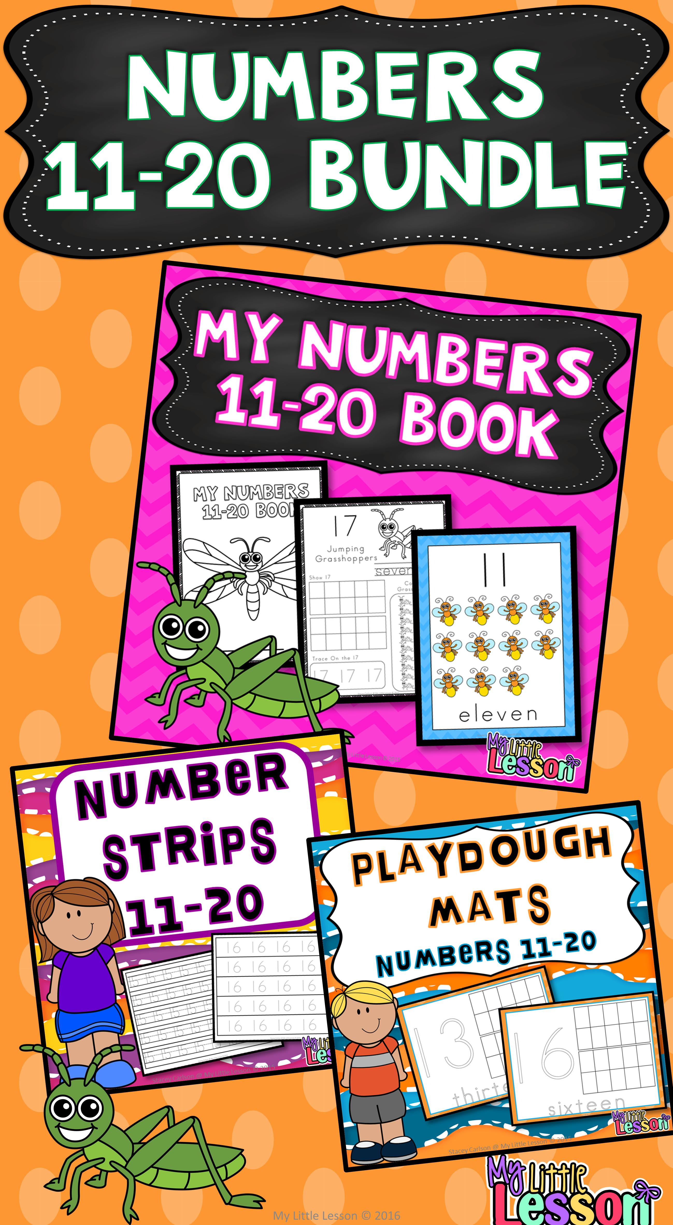 Numbers 11 20 Bundle Worksheets Number Posters Tracing