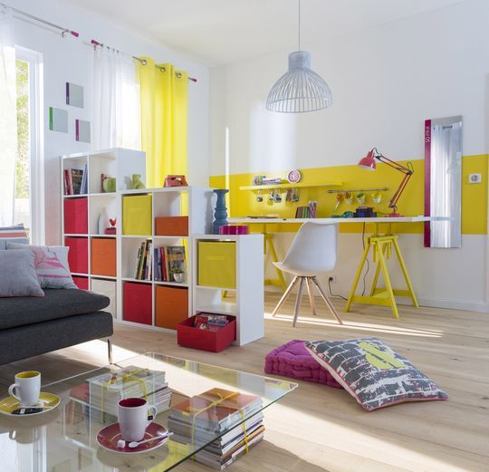 Peinture jaune moutarde, pale, fluo... | Jaune fluo, Fluo et Peinture du
