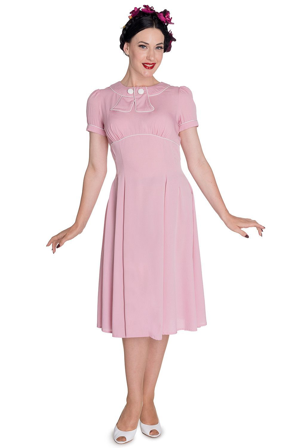 Hell Bunny 60\'s Vintage Inspired Jackie First Lady Fancy Pink Dress ...