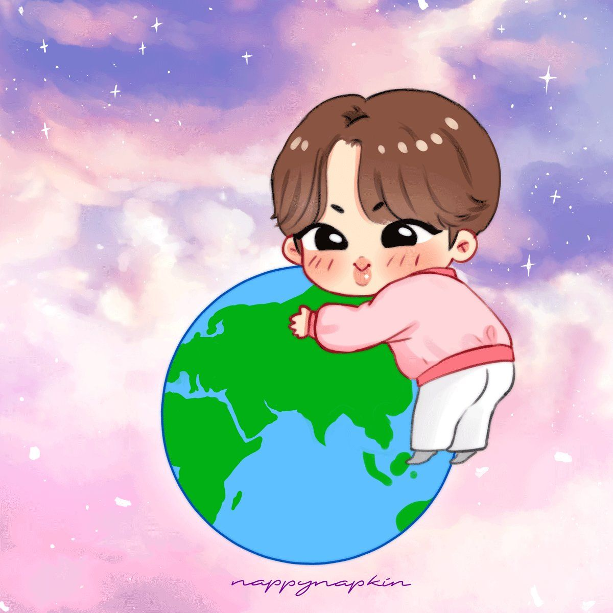 Nappi Bts Fa On Twitter Our Moon Jinnie Hugging Us And Rotating With Us Btsfanart Bts Jin Bts Twt Bts Fanart Bts Drawings Bts Chibi Bts jin cartoon wallpaper