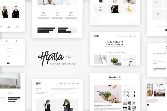 Hipsta Minimal Creative Theme Creative Wordpress Themes Wordpress Theme Wordpress Ecommerce Theme