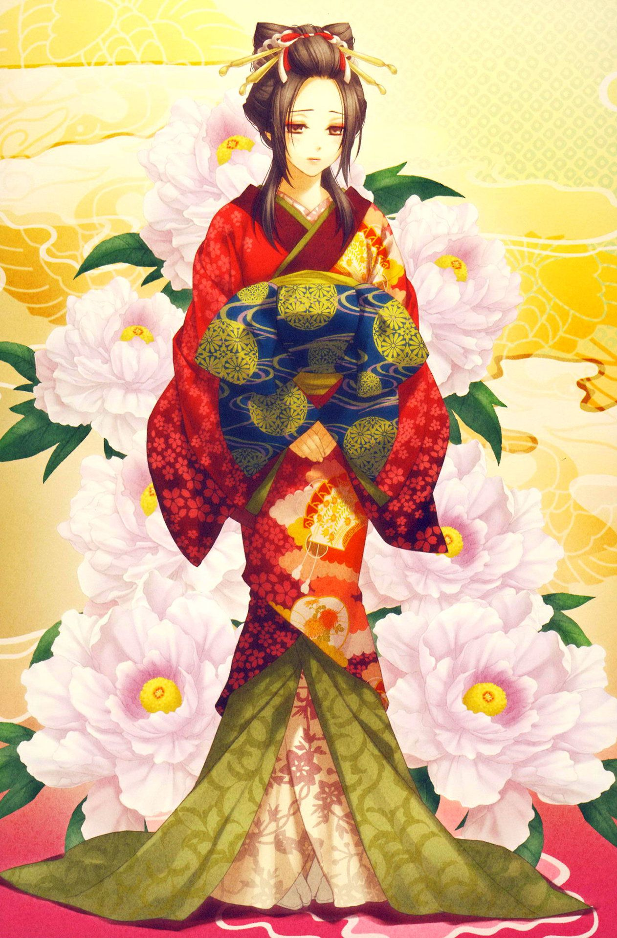 Epingle Par Ariel Thilly Sur Like A Geisha Illustrations Kimono