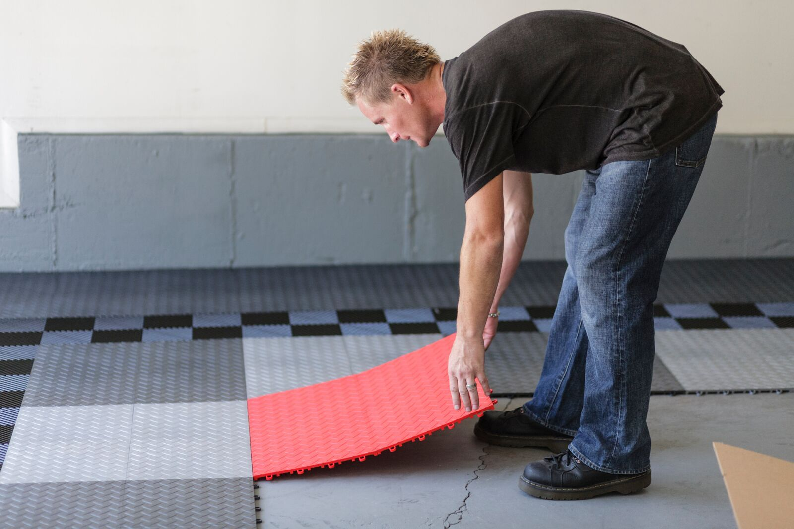 Race Deck Interlocking Tiles Simply Snap Together Mix Colors For